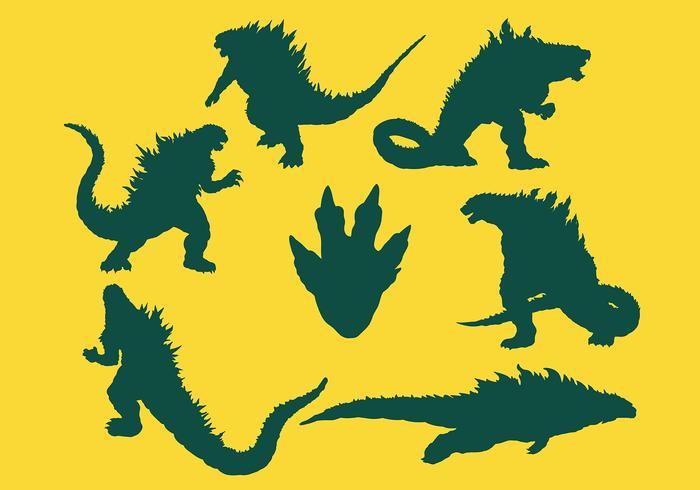 Godzilla Icons Vector