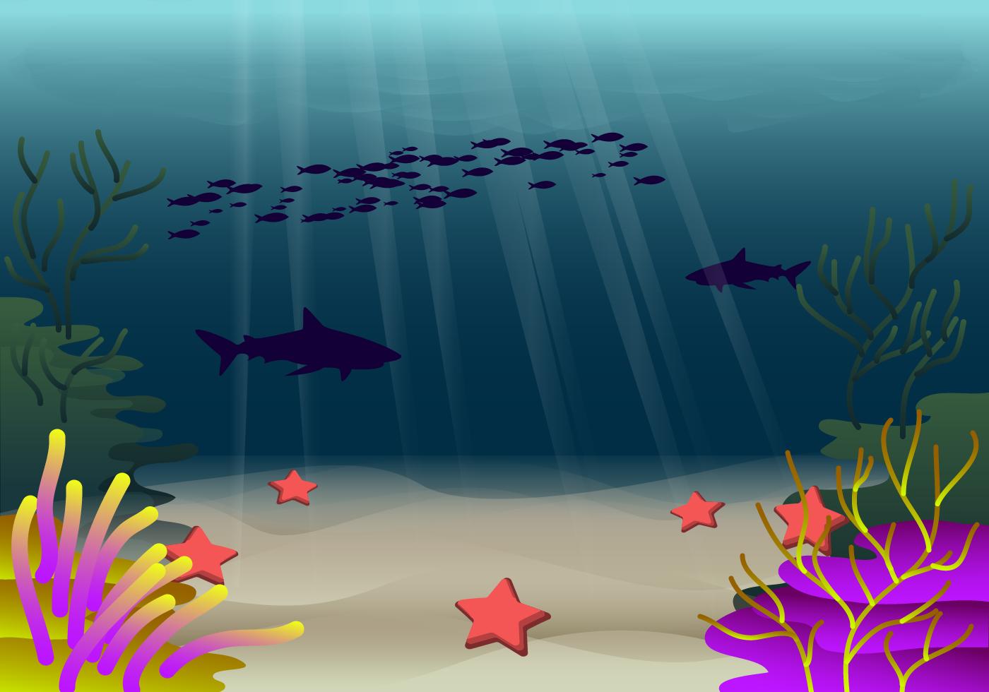 Vector libre del fondo del mar descargue gr ficos y - Fotos fondo del mar ...