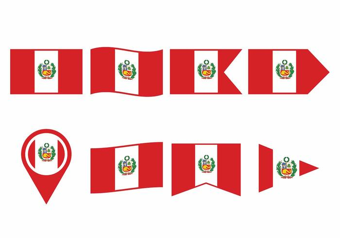 Peru flagguppsättning