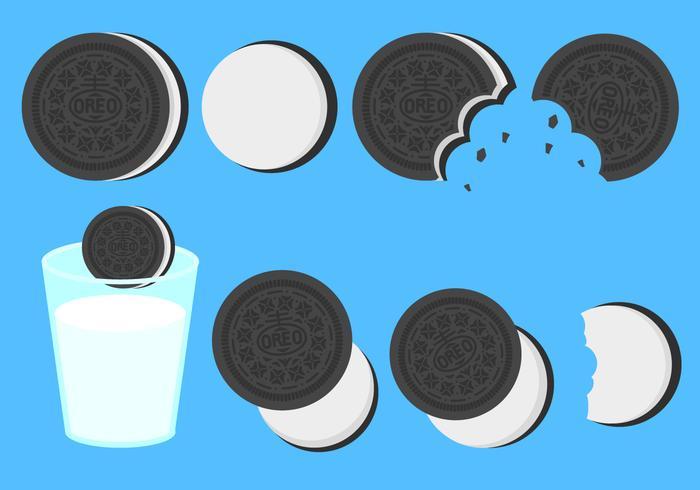 Free Flat Oreo Cookies Vector
