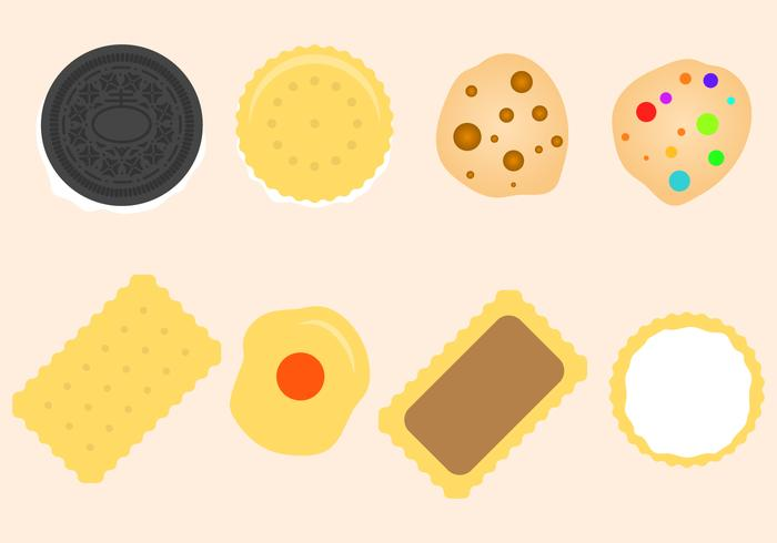 Vetor de cookies planos grátis
