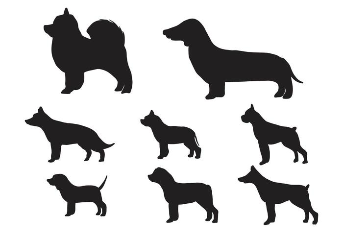 Free Silhouette of Dog Vector