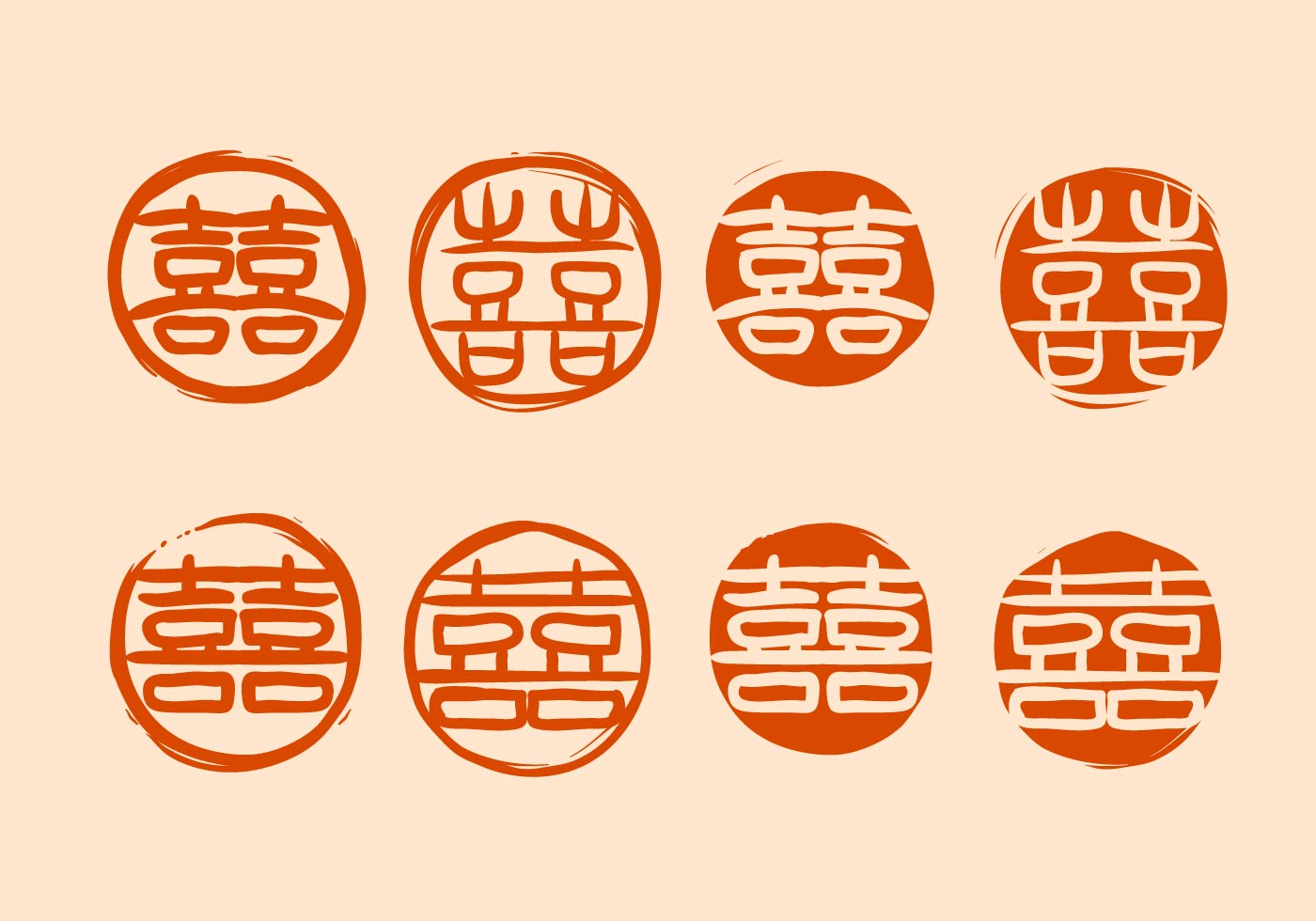 Free chinese wedding symbol vector download free vector for Chinese vector