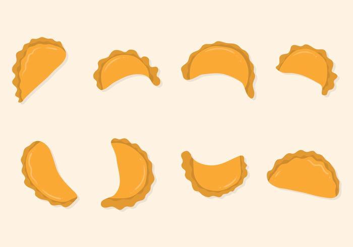 free flat empanadas vector download free vector art