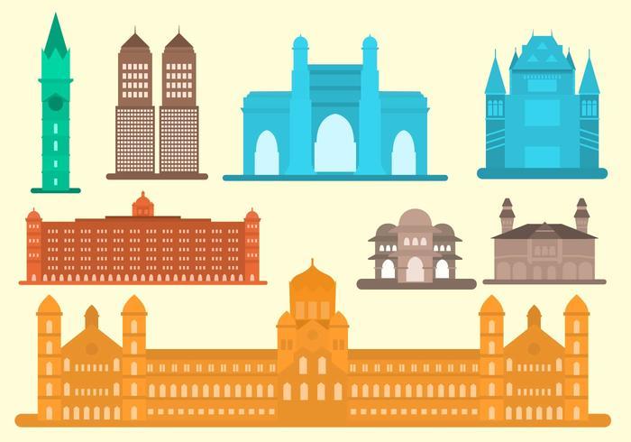 Libre Plano Mumbai Landmark Vector
