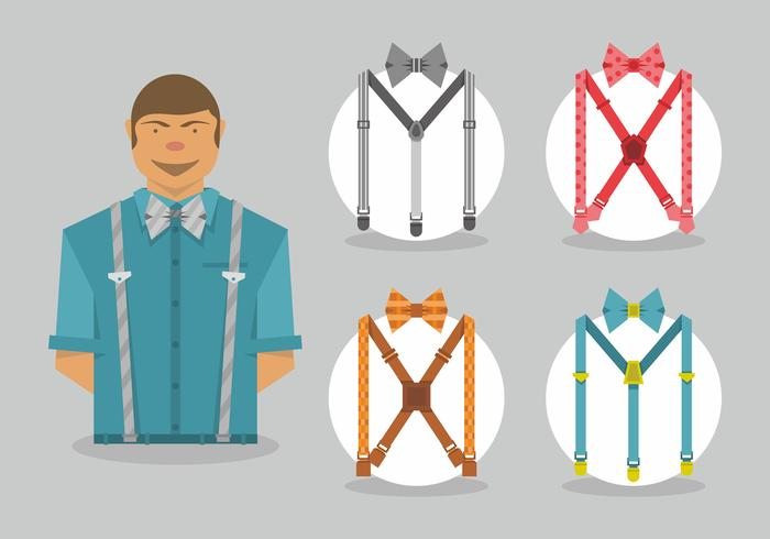 Suspenders Vector Art