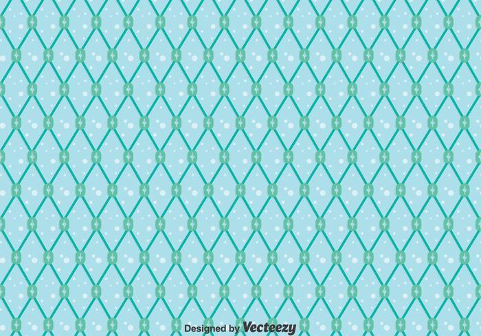 Blue Fish Net Seamless Pattern