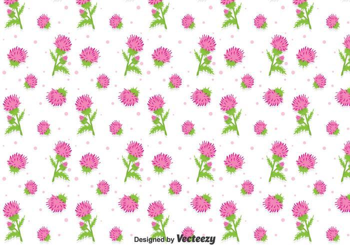 Beautiful Thistle Flowers Seamless Pattern