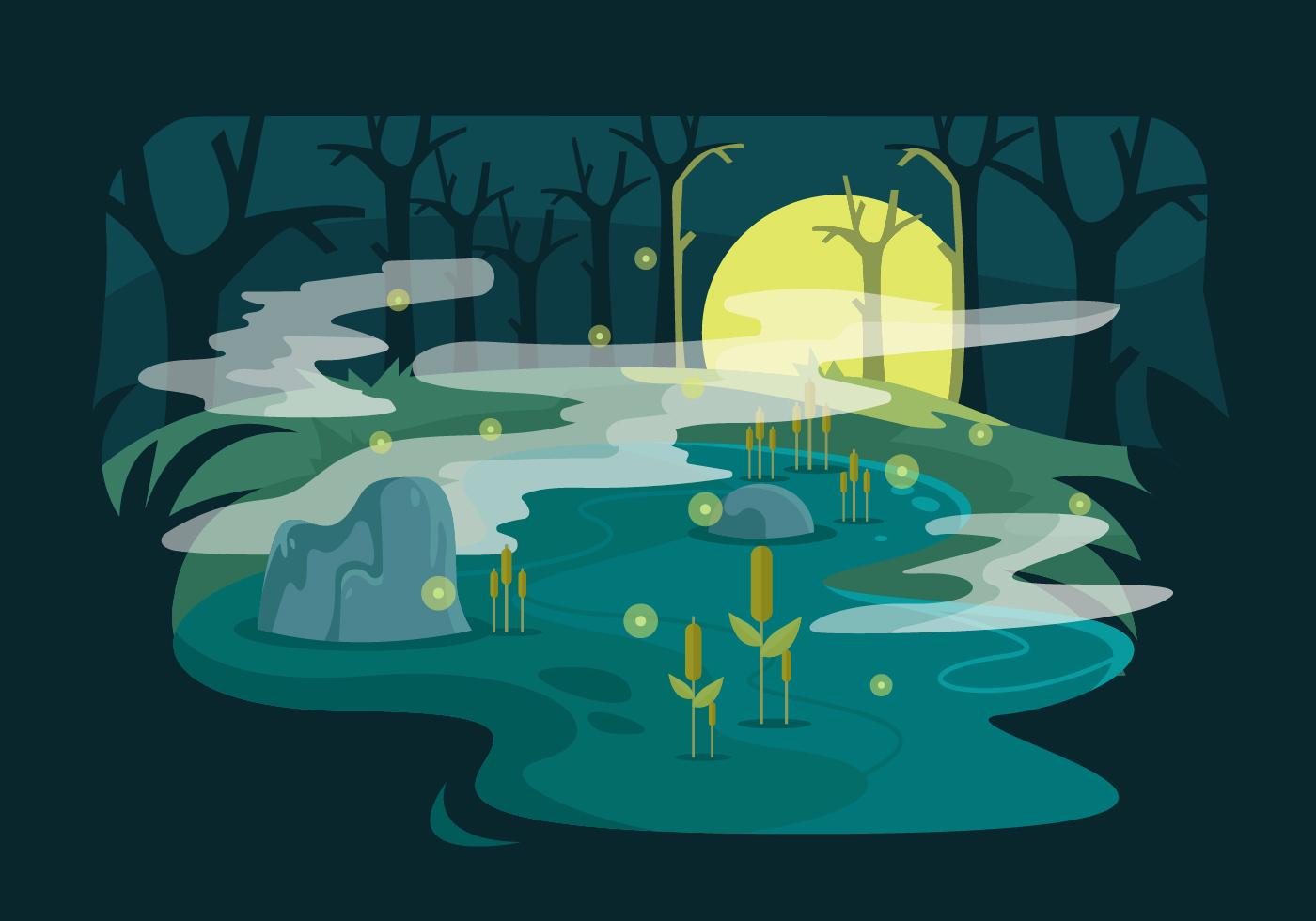 Swamp Vector Illustration