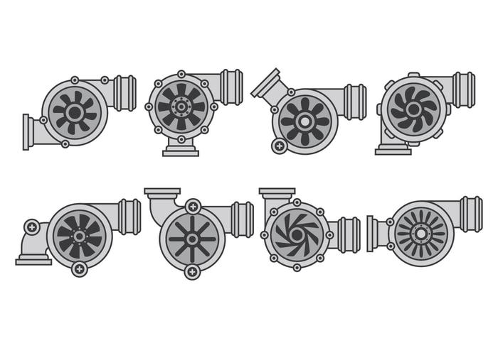 Turbo Charger Icons vector