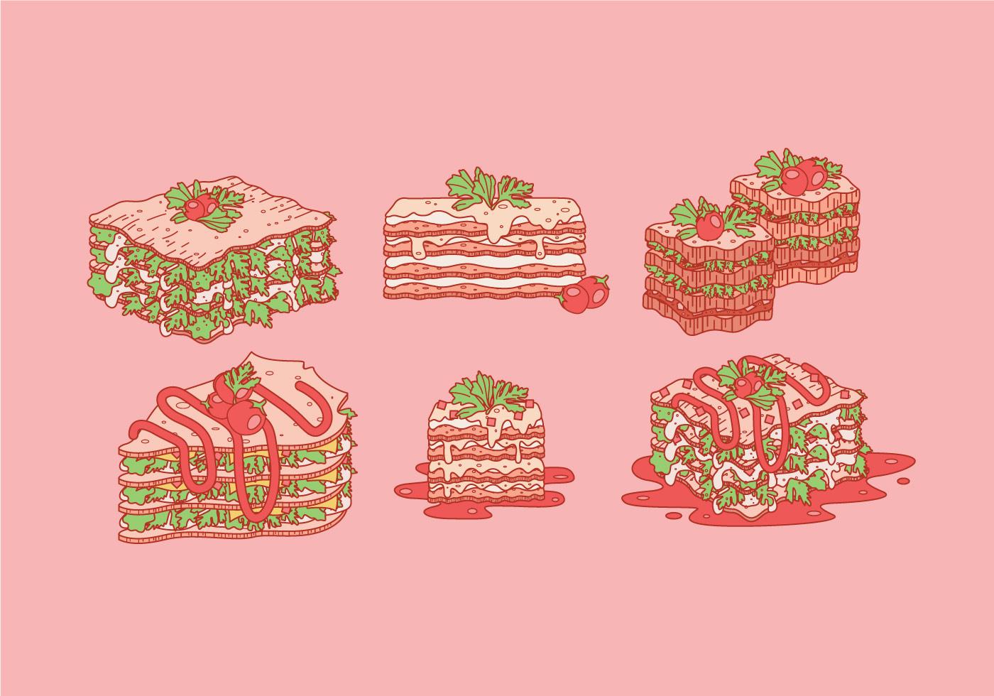 Lasagna Free Vector Art - (1313 Free Downloads)