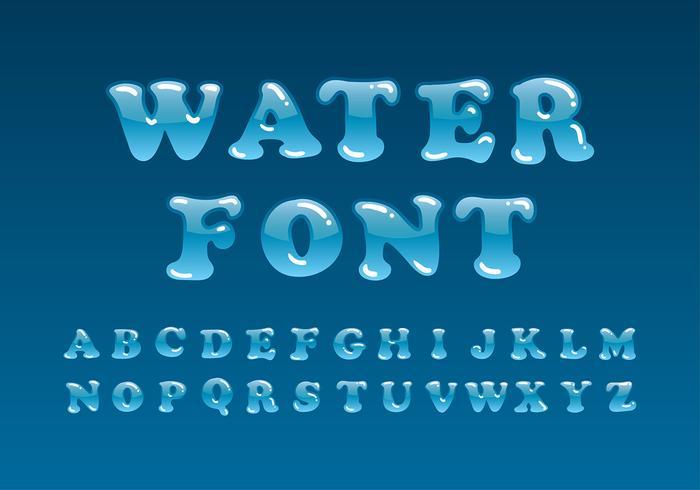 Vector de fuente de agua