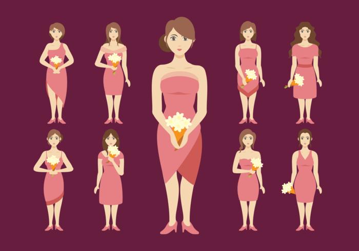 Bridesmaids Women Vector