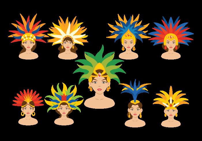 Brazilian Samba Dancer Vectors