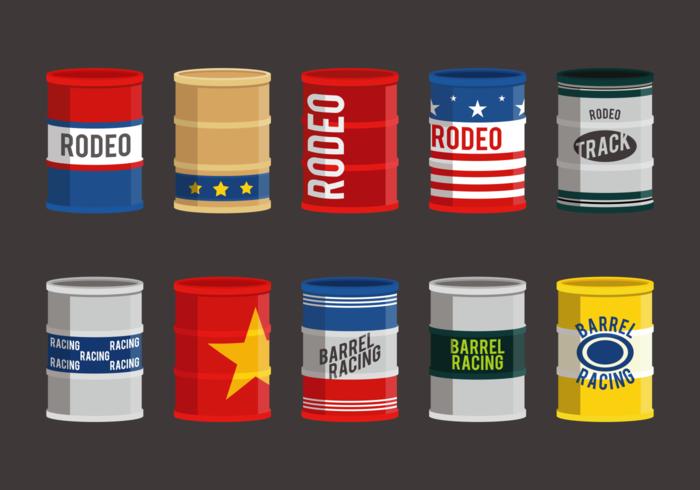 Cubiertas de tambor de Barrel Racing