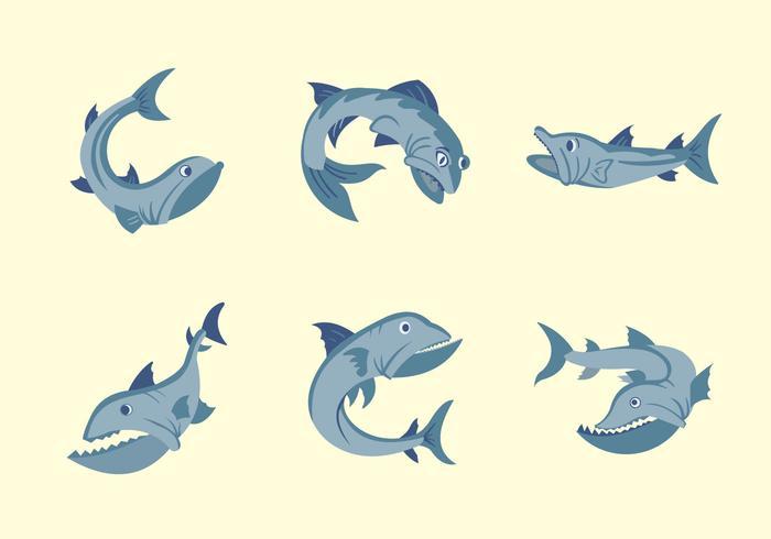 Barracuda fisk vektor illustration