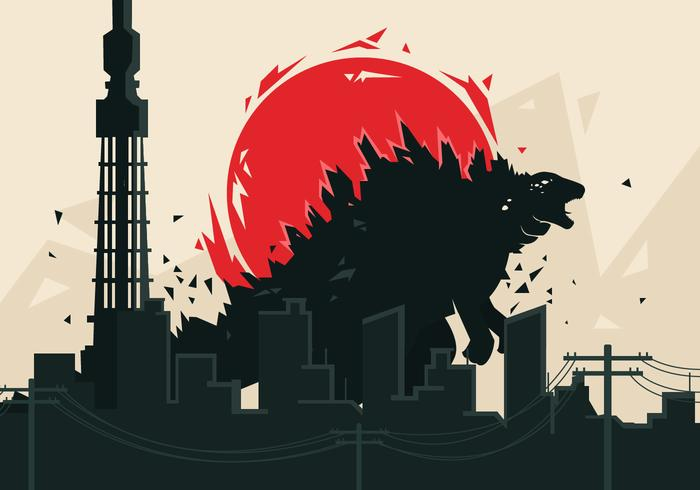 Godzilla Vector Bakgrund