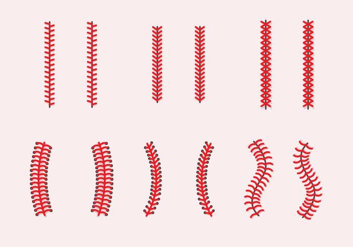 Baseball Laces Vector Sets