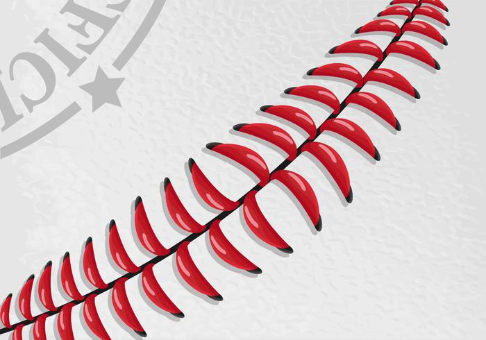 Baseball Laces Vector Wallpaper