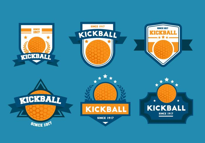 Kickball Vector Badge Sets