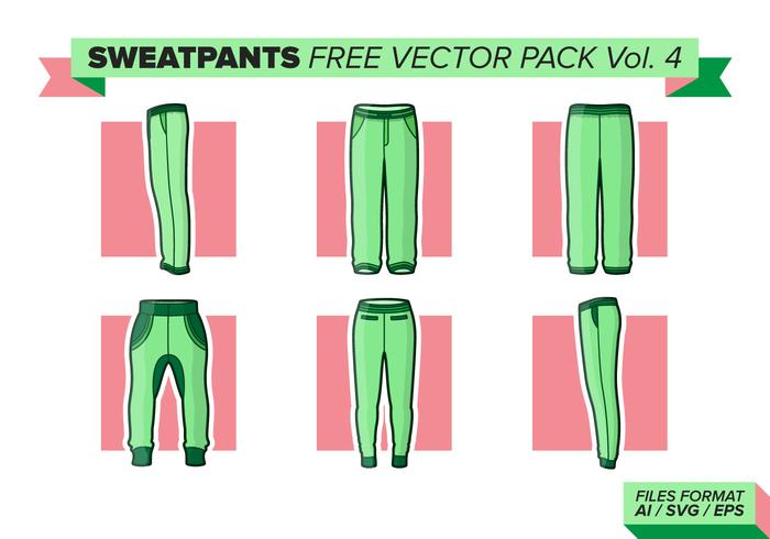 Sweatpants Free Vector Pack Vol. 4