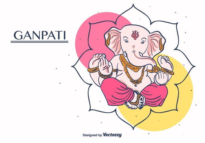 Ganpati Vector Background