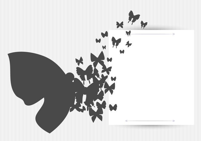 Conception de fond de papillons vectoriels