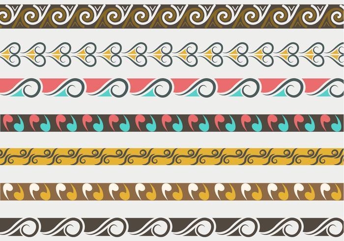 Traditional Maori Vector Borders and Patterns