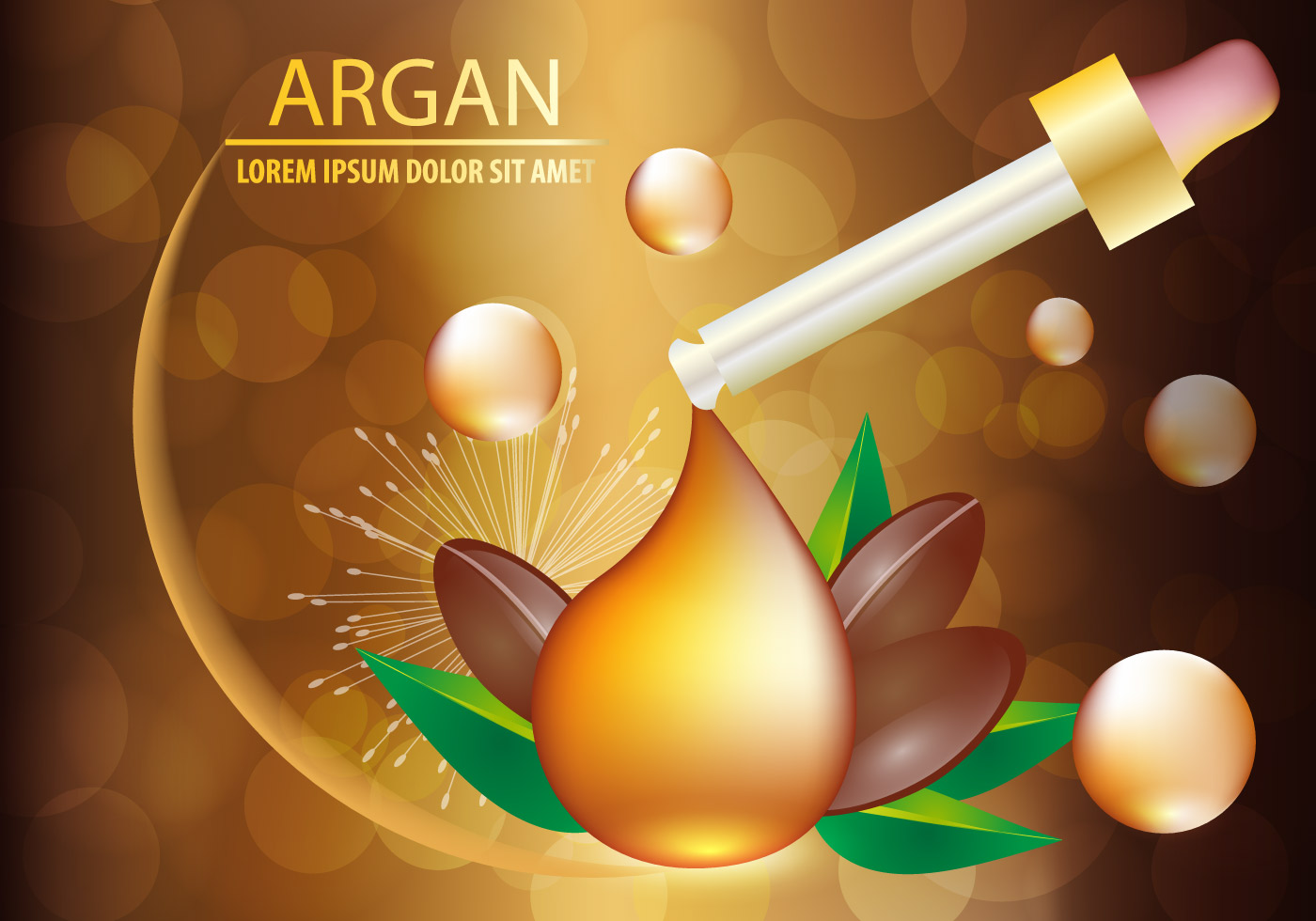 Argan Oil Serum And Background Concept Skin Care Cosmetic Download Free Vectors Clipart Graphics Vector Art