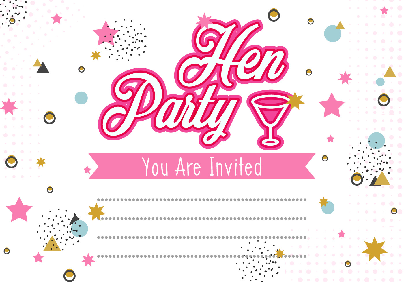 Hen Party Invitation Template Ilration Free Vector Art Stock Graphics Images