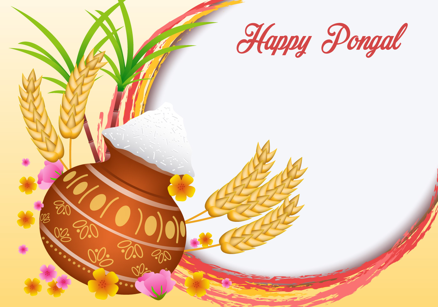 Happy pongal vector download free vector art stock graphics images kristyandbryce Image collections