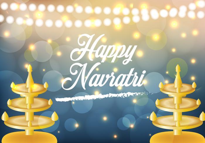 Happy Navrati Illustration