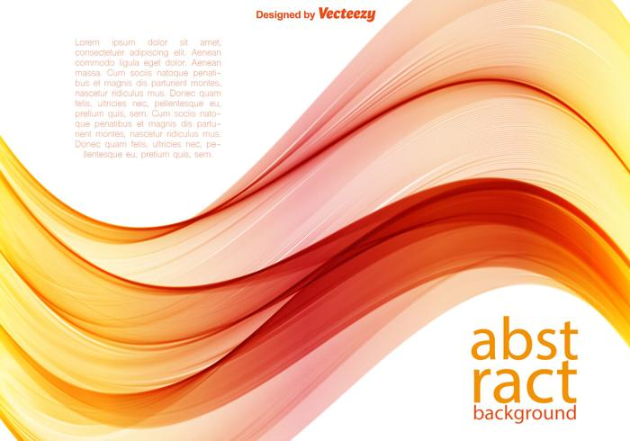 Vector Orange Wave Background