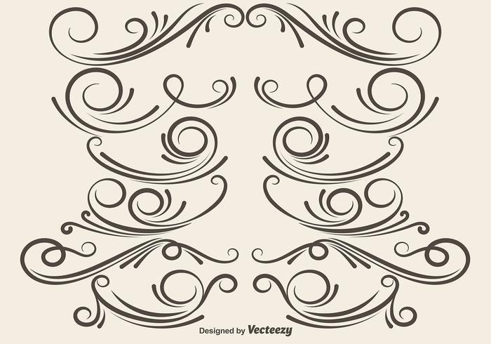 Divisores ornamentales vectoriales