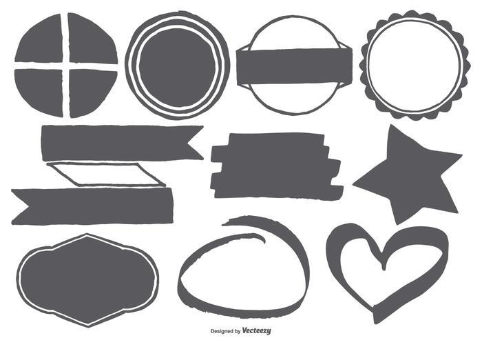 Handgezeichnete Vektorformen