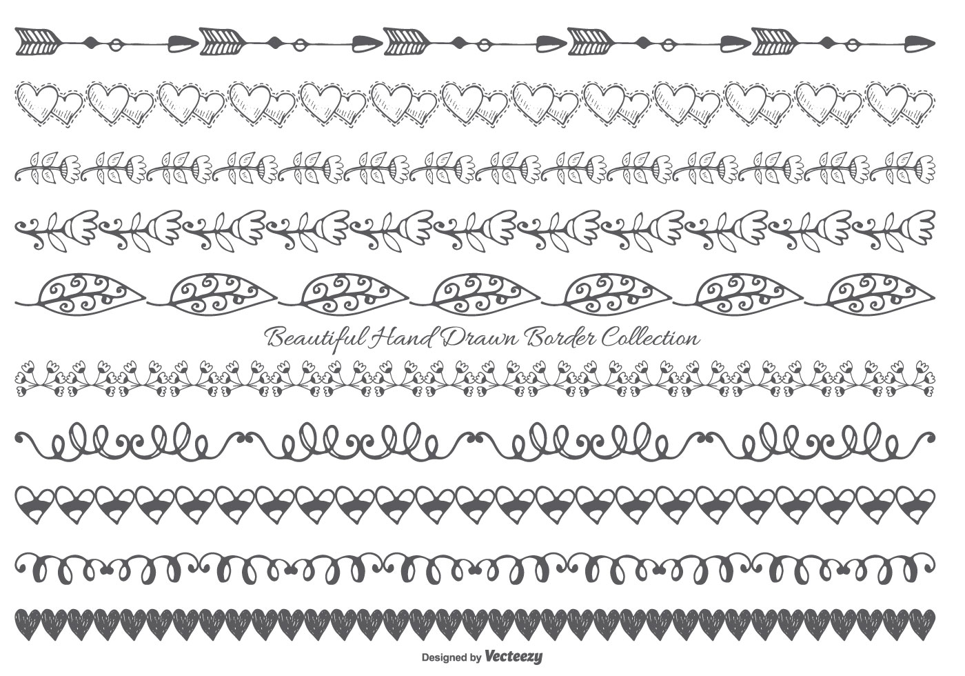 Cute Hand Drawn Style Border Collection - Download Free ...