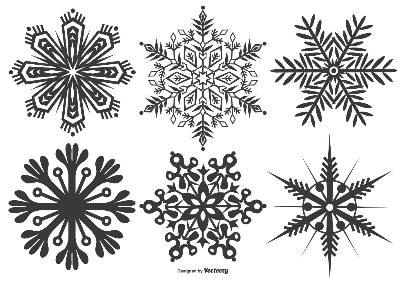 snowflake shapes free vector art