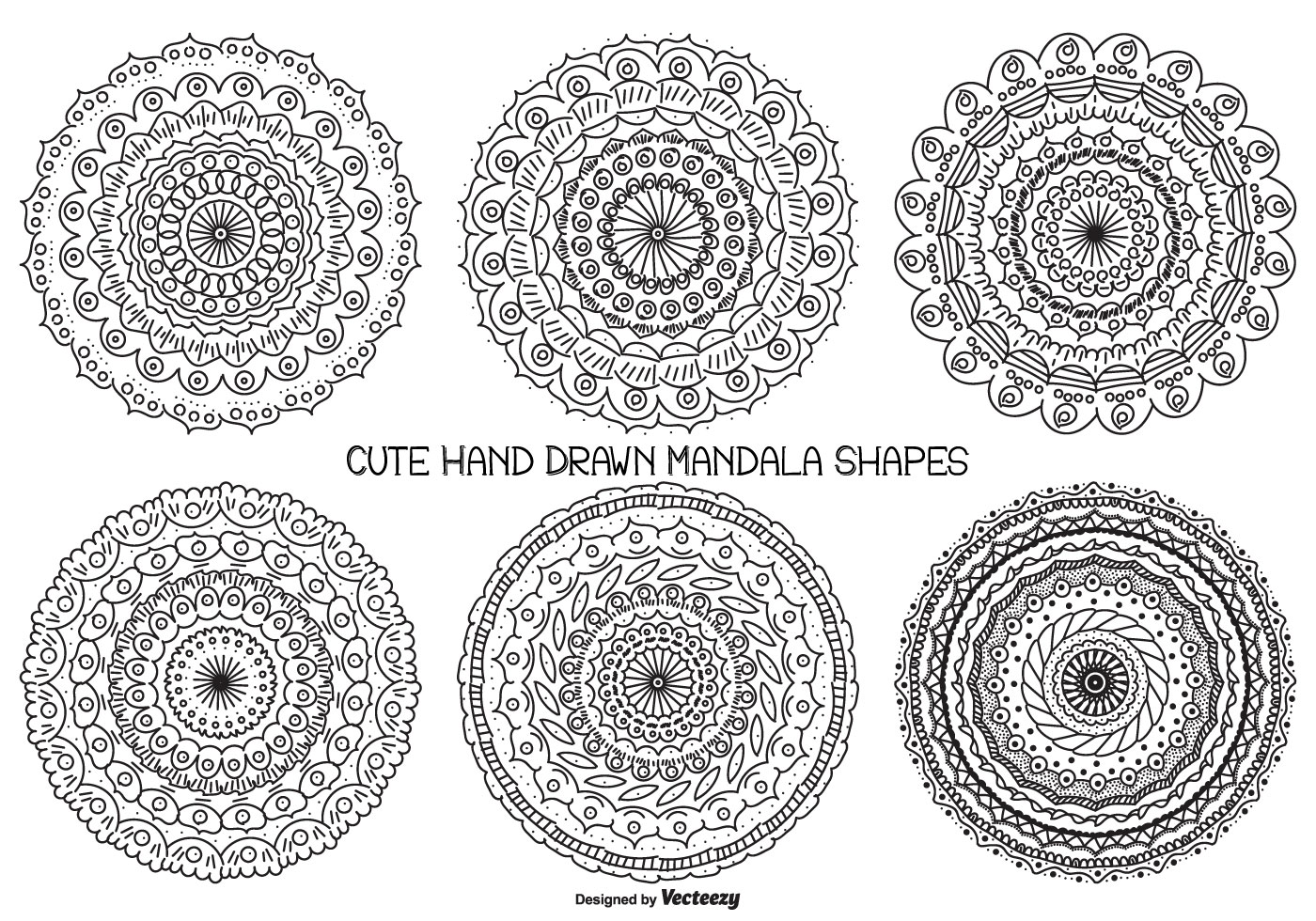 Cute Hand Drawn Mandala Shape Collection Download Free