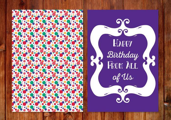 Cute Polka Dot Birthday Card