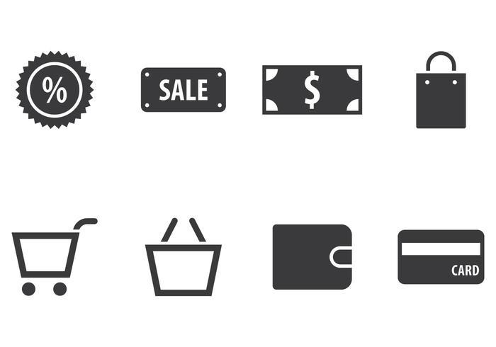 Winkelen Icon Set vector