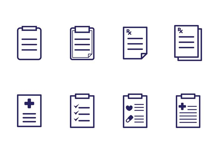 Prescription Pad Icons vector