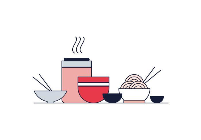 Free Oriental Food Vector