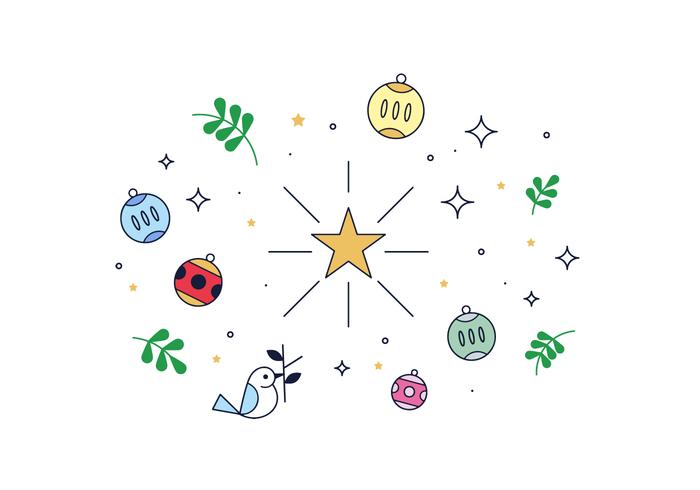 Vecteur étoile de Noël gratuit