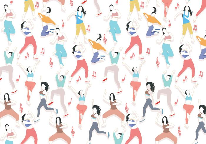 Zumba Dancing Pattern Vector