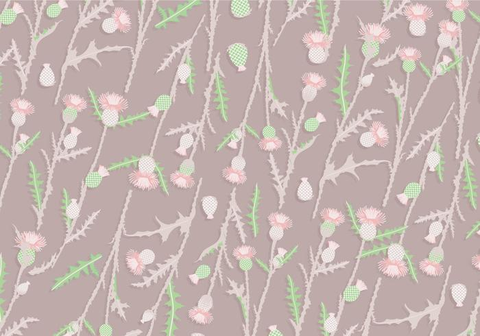 Thistle Pattern Vintage Vector