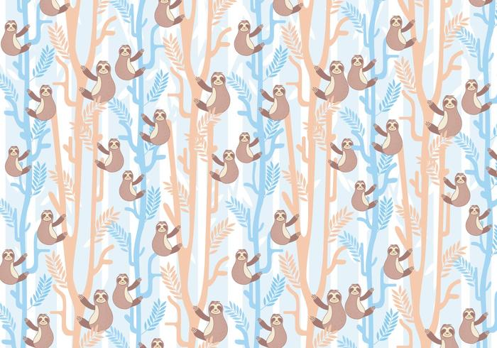 Sloth Pattern Vector