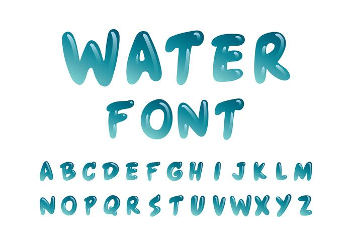 Water Font Free Vector Art - (24,022 Free Downloads)