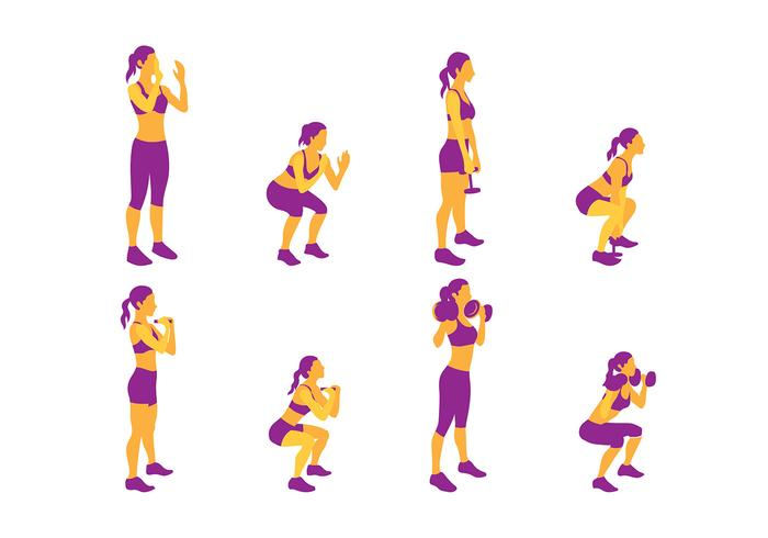 Squat Pose Free Vector