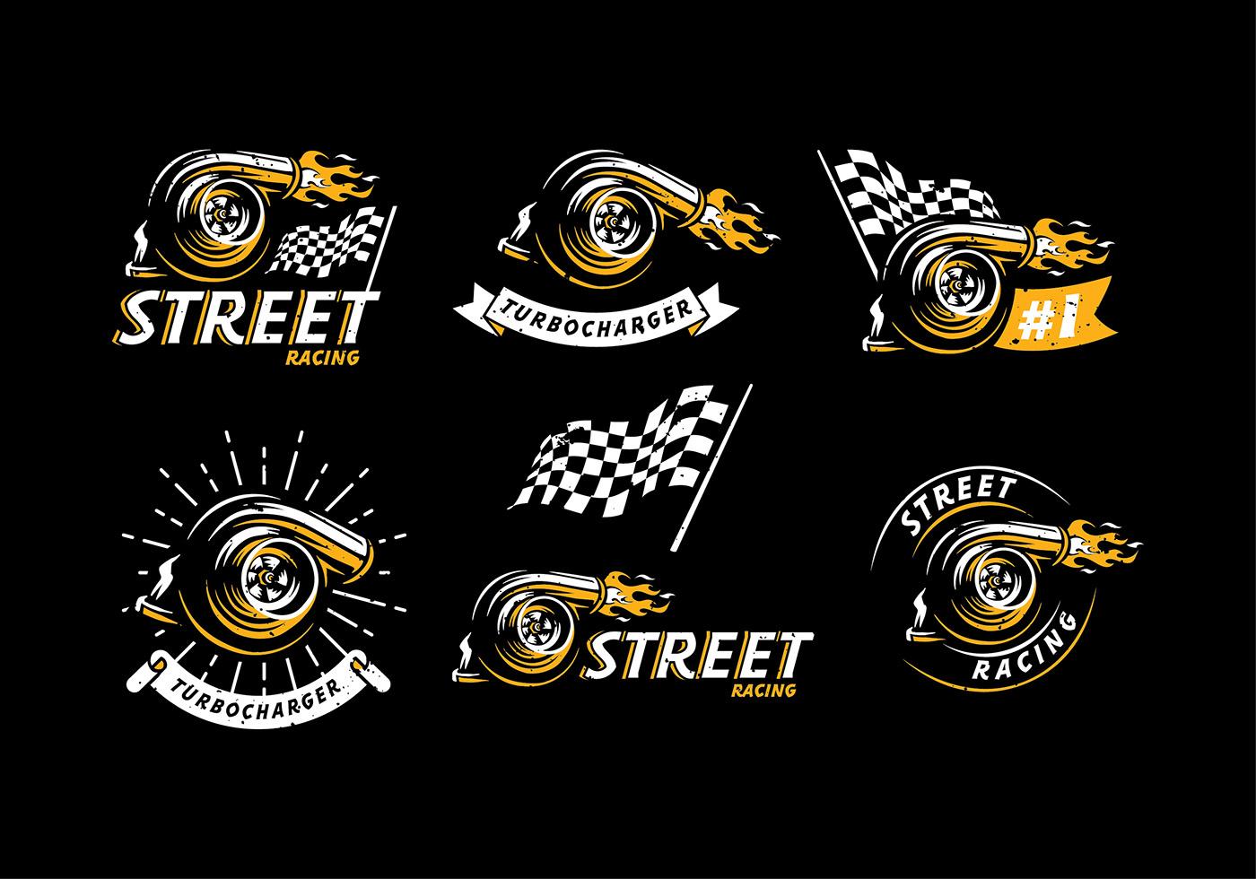 Turbocharger Logo Free Vector on Vector Download » Car Engine Piston Illustration