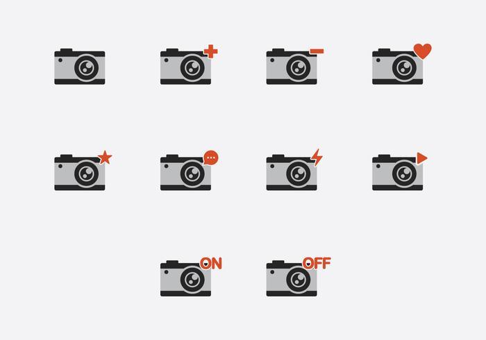 Camara Icon Set vector
